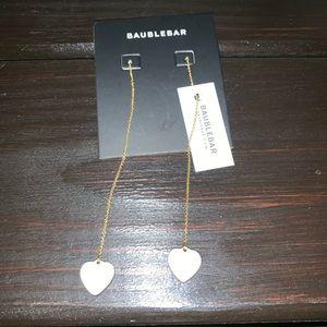 NWT baublebar heart drop earrings
